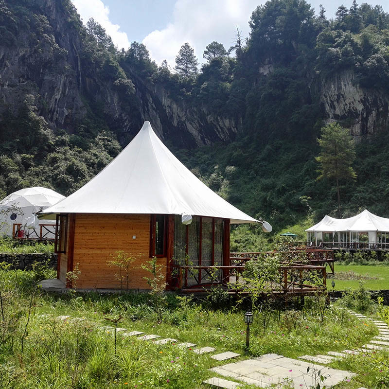 Tent Resort Glamping Hotel Tent With Steel Frame Pvdf